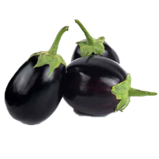 Picture of Round Brinjal (Black) - 500 gm