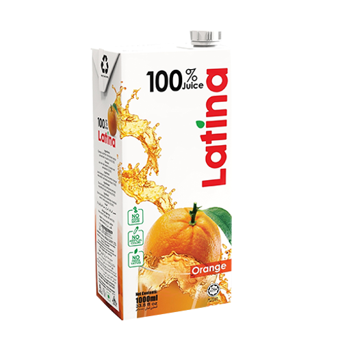 Picture of Pran Latina 100% Juice Orange - 1000 ml