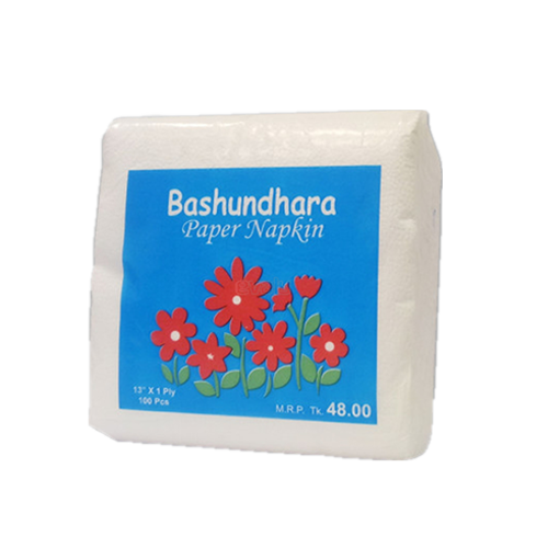 "Picture of Bashundhara Paper Napkins 13"" Unscented (100 pcs)"