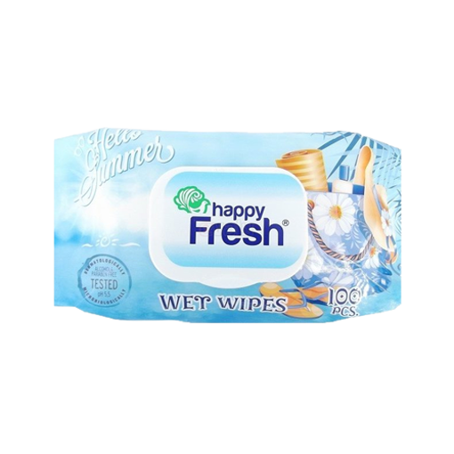 Picture of Happy Fresh Wet Wipes - 120 pcs