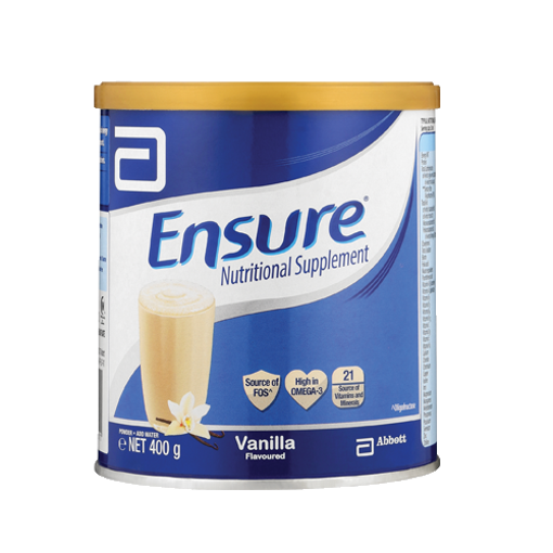 Picture of Ensure Nutrition Vanilla Flavor Powder Jar - 400 gm