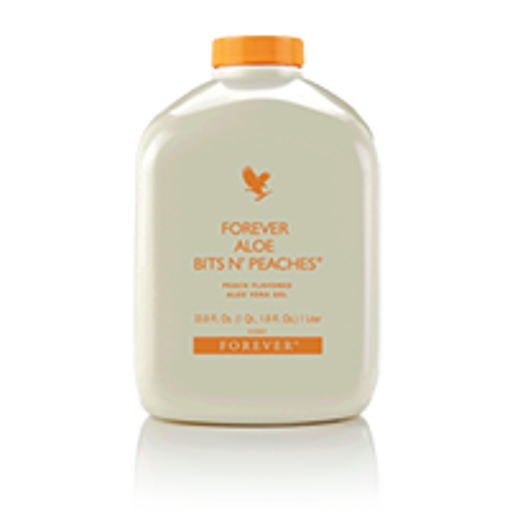 Picture of Forever Aloe Bits N' Peaches® (Item # 077) - Per Bottle - 33.8 FL OZ