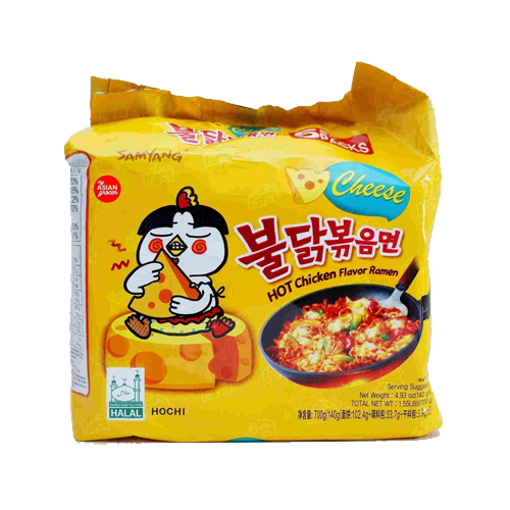 Picture of Samyang Cheese Flavor Super Spicy Noodles - 1 Packet