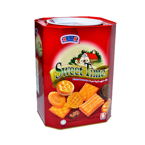 Picture of Kerk Sweet Time Assorted Biscuits (Tin Jar) - 600 gm