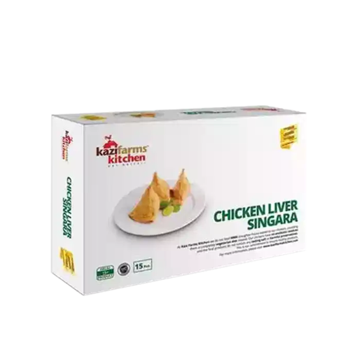 Picture of Kazi Farms Kitchen Chicken Liver Singara 15 pcs - 300 gm