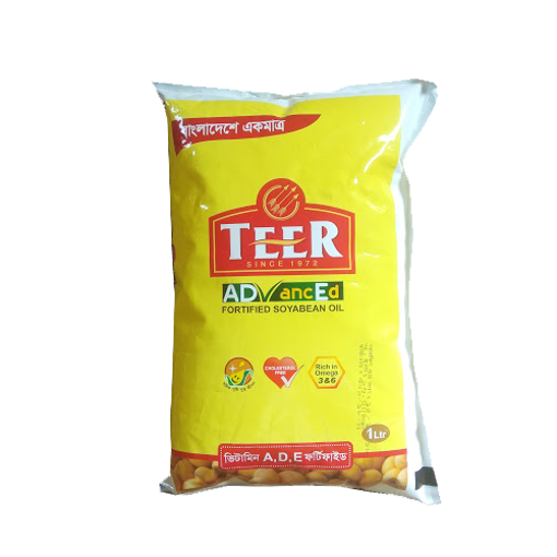 Picture of Teer Soyabean Oil Poly Pack - 1 ltr
